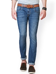 Peter England Men Blue Skinny Fit Low-Rise Clean Look Jeans