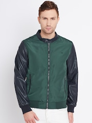 United Colors of Benetton Green & Navy Bomber Jacket