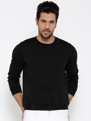 United Colors of Benetton Black Textured Sweatshirt
