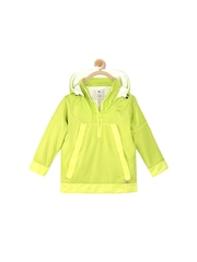 Cherry Crumble Boys Green Hooded Jacket