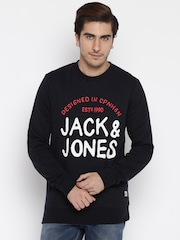 Jack & Jones Black Printed Sweatshirt