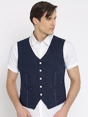 Jack & Jones Navy Single-Breasted Waistcoat