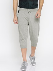 Converse Men Grey Melange Solid 3/4th Shorts