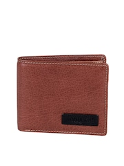 Woodland Men Brown Textured Genuine Leather Wallet