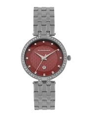 GIORDANO Women Burgundy Stone-Studded Analogue Watch 2770-11