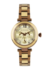 GIORDANO Women Gold-Toned Multifunction Analogue Watch 2773-55
