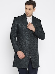 Raymond Ethnix Grey Self-Design Sherwani