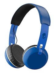Skullcandy Blue Grind Bluetooth Wireless Headphones with Mic & Remote