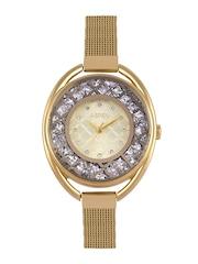 ASPEN Women Silver & Gold-Toned Dial Watch AP1941