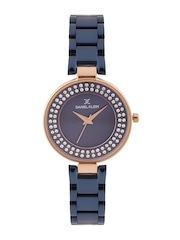 Daniel Klein Premium Women Navy Stone-Studded Dial Watch DK11181-7