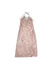FOREVER 21 Women Beige & Pink Self-Design Maxi Dress