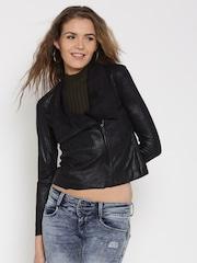 FOREVER 21 Black Sheen Jacket