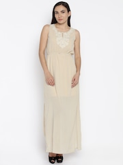 AND Women Beige Printed Maxi Dress