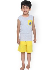 United Colors of Benetton Boys Grey & Yellow Lounge Set BY171