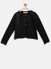 Nauti Nati Girls Black Embellished Cardigan