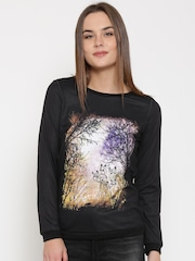 Vero Moda Black Printed Sweatshirt