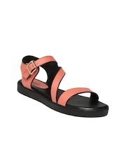 Lavie Women Pink Solid Open-Toed Sandals