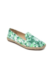 Lavie Women Green & White Printed Espadrilles