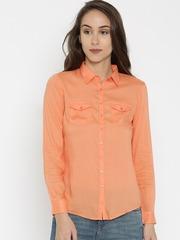 SPYKAR Women Orange Solid Shirt