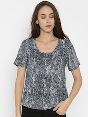 SPYKAR Women Blue Printed Regular Top