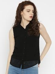 SPYKAR Black Slim Fit Solid Casual Shirt