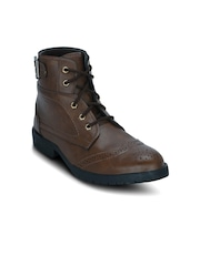 Kielz Men Tan Brown Flat Boots