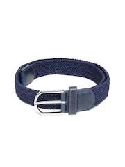 Lino Perros Men Navy Basketweave Belt