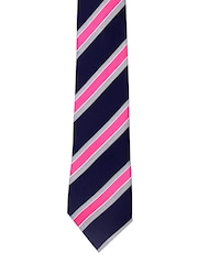 Tossido Navy & Pink Striped Tie