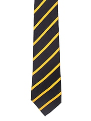 Tossido Yellow & Black Striped Tie