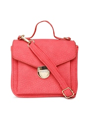 Mast & Harbour Coral Red Satchel with Sling Strap