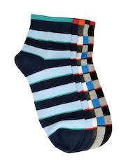 MARC Men Set of 5 Striped Ankle-Length Socks