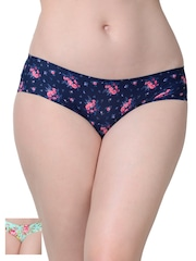 Da Intimo Women Pack of 2 Floral Print Briefs DIU-0506