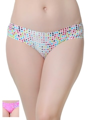 Da Intimo Women Pack of 2 Polka Dot Print Briefs DIU-1112