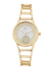 Anouk Women Gold-Toned & White Analogue Watch MFB-PN-WTH-S5898-3A