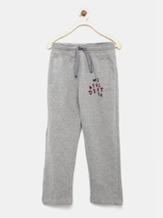 Indian Terrain Boys Grey Melange Track Pants