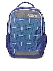 AMERICAN TOURISTER Unisex Blue Printed Backpack