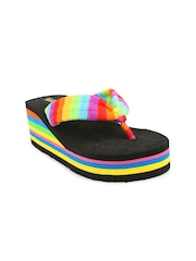 Shoetopia Women Multicoloured Solid Sandals