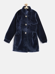 U.S. Polo Assn. Kids Girls Navy Longline Jacket