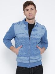 Fort Collins Blue Printed Sweatshirt