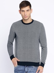 Pepe Jeans Navy & White Patterned Sweater