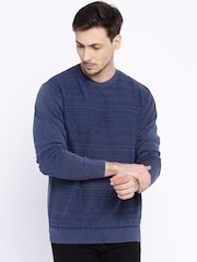 Pepe Jeans Navy Fair Isle Pattern Sweater