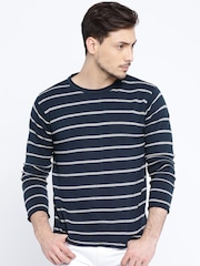 Pepe Jeans Navy & Grey Striped Sweater