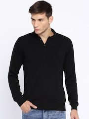 Pepe Jeans Black Henley Sweater