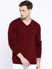 Pepe Jeans Burgundy Sweater