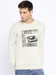 Pepe Jeans Off-White Printed Sweater