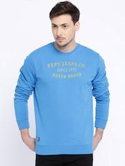 Pepe Jeans Blue Printed Sweatshirt