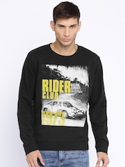 Pepe Jeans Black Printed Sweatshirt