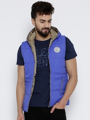 Pepe Jeans Blue Sleeveless Padded Hooded Jacket