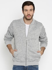 Pepe Jeans Grey Melange Bomber Jacket