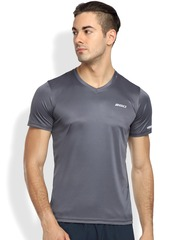 2GO Men Grey Solid V-Neck T-Shirt